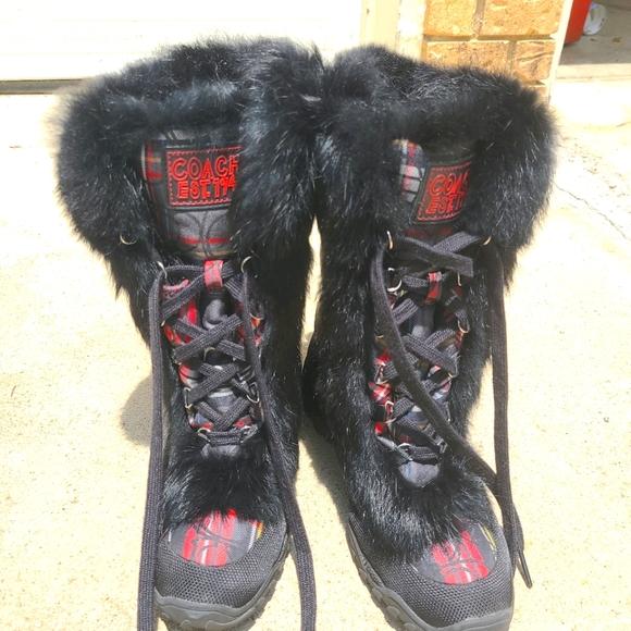 Women coach winter boots